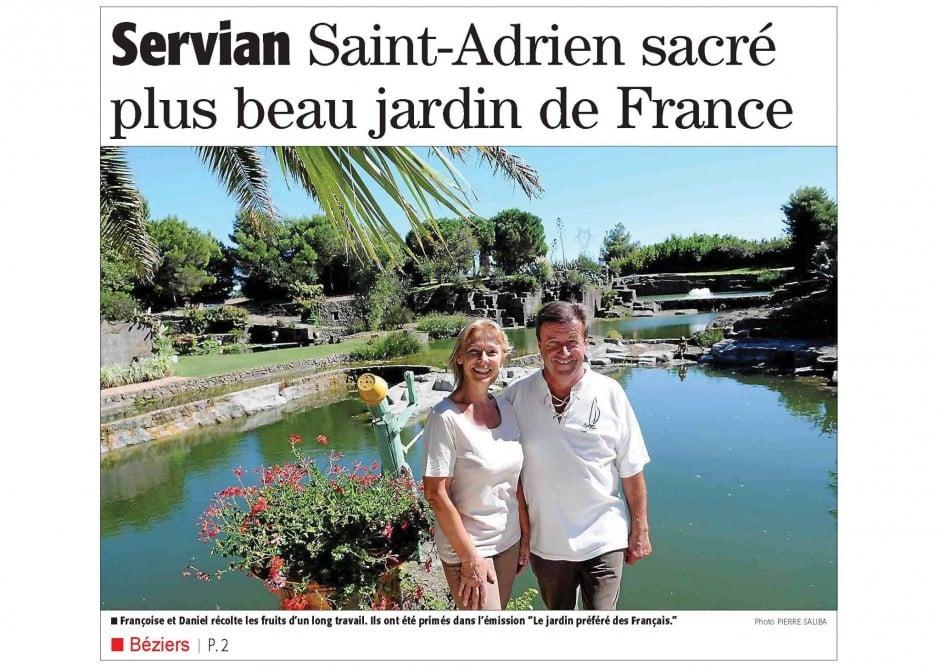 Jardin de Saint Adrien à Servian